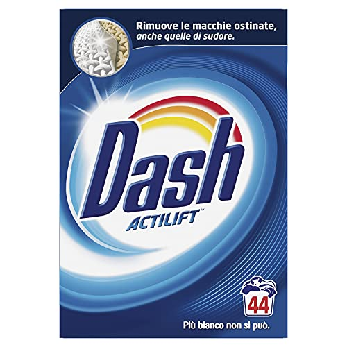Dash Detersivo Polvere Lavatrice, 44 Lavaggi, Classico, Maxi Formato, Rimuove le Macchie, Brillantezza per Tutti i Capi