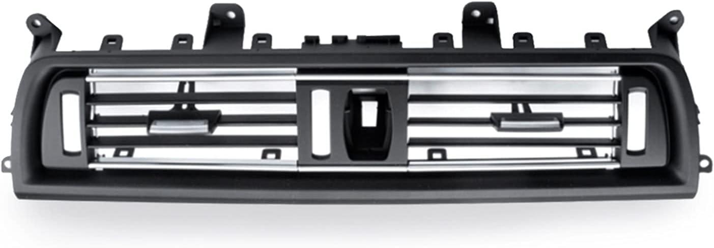 ZHOUBENXIANG Ajuste para BMW Serie 5 F18 F11 F10 rejilla frontal Dash Panel central Salida de aire Rejilla de ventilación de la cubierta 2010 2011 2012 2013 2014 2015 2016 ( Color Name : Chrome )