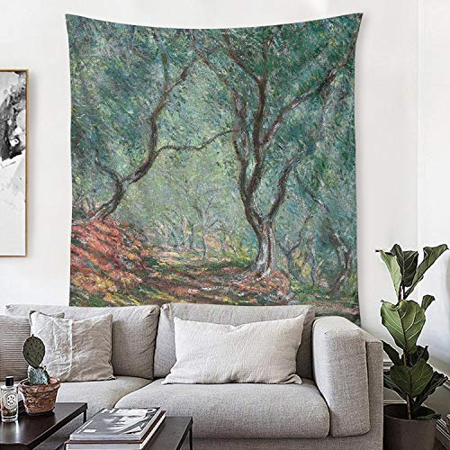 LunchBaggg Claude Monet Olive Tree Wood in The Moreno Garden 54x60inch Wall Tapestry Iconic