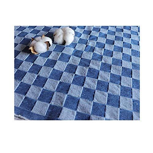 Geruite gewassen katoenen denim van 150 cm breed, waardoor een spijkerbroek, spijkerjas, bankstof wordt gemaakt (150cm x 100cm) (Color : In blue)