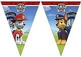 PAW PATROL 0911, Banderines Patrulla Canina,, Fiestas y cumpleaños, Dimensiones 2,40 Metros lineales Aprox.