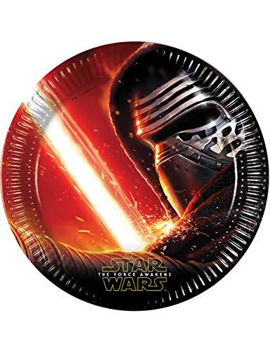 8 Assiettes en carton Star Wars VII 22 cm