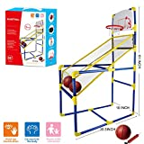 Cyeah Basketball Hoop Indoor for Kids - Arcade Game - Shooting System with Mini Hoop, 3 Inflatable Ball and Pump
