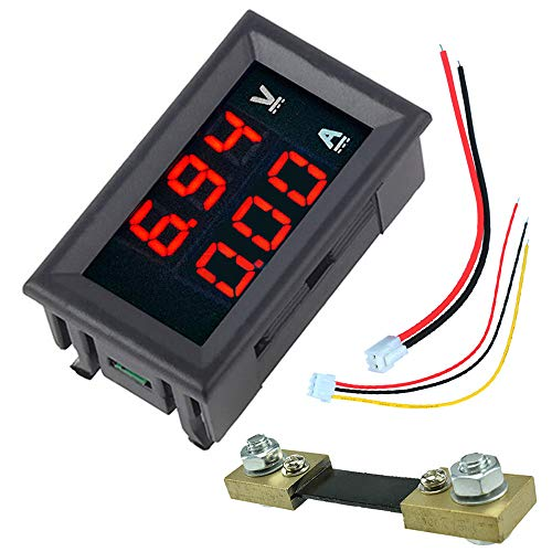 Amazing Deal ILS - 0.56 Red+Red Dual LED Display Mini Digital Voltmeter Ammeter DC 100V 100A Panel A...