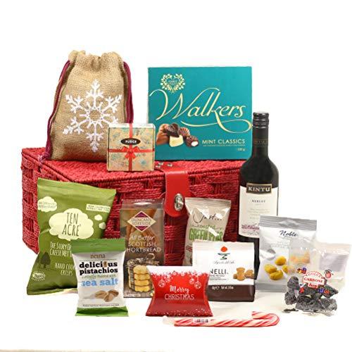 Hay Hampers' Jingle All the Way Christmas Food & Wine Hamper Basket