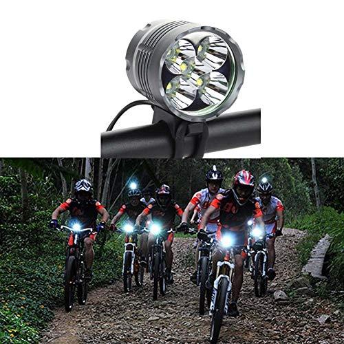 XWZH Fahrradbeleuchtung 5 x XM-L T6 LED 6000 Lumen Fahrradlicht Frontlicht LED Wasserdicht Scheinwerfer Headlight Aluminiumlegierung Zubehör Fahrrad