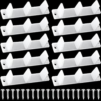 10 Pieces Sliding Closet Door Bottom Guide Plastic Floor Guide Track Floor Mount Guide Bypass Door Floor Guide 4-3/16 White