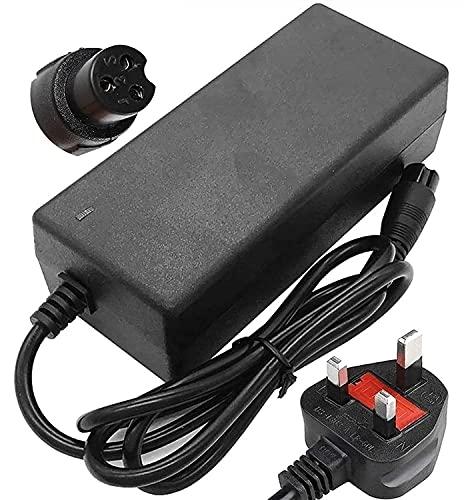 Cargador de scooter 4 2V 2A AC Adaptador de potencia Cargador de batería para 2 ruedas auto equalojas hoverboard Bicicletas eléctricas, compatibles con scooter eléctrico, scooter de balance, tablero d