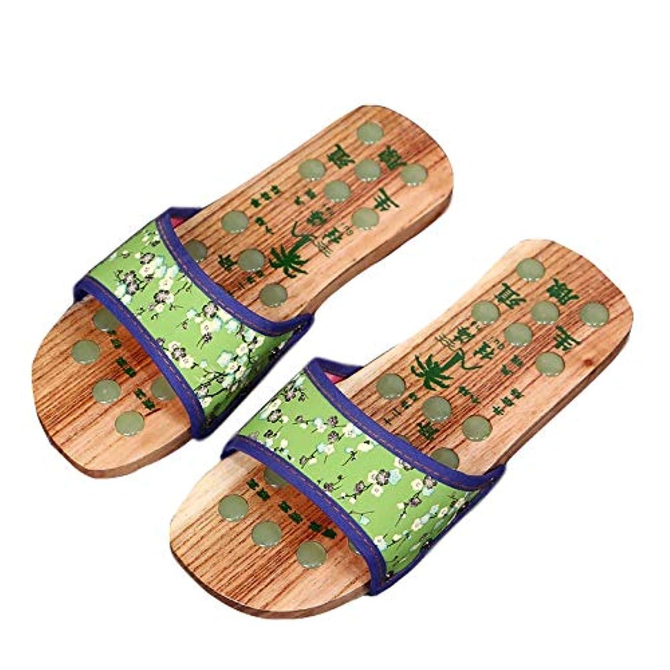 一次よく話される有望[エリンネ] 下駄風 レディース 栴檀 夏用 足裏マッサージ 普段着 健康サンダル 歩きやすい