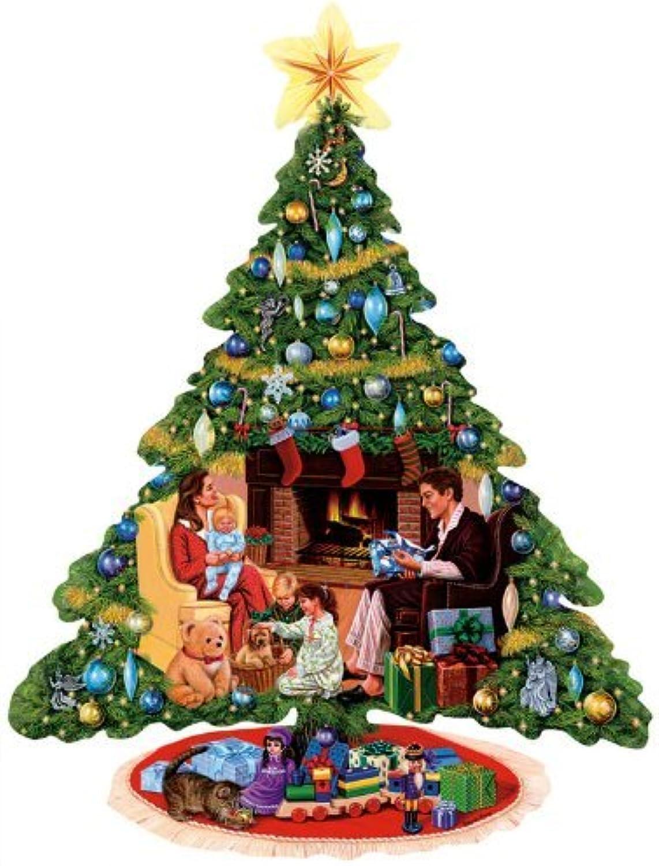 Weihnachtsbaum, Bescherung (Formpuzzle) 1000 Teile B002XCM7KO Produktqualität | Verkauf