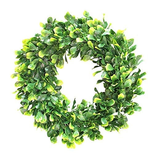 House Decoration Artificial Plant Wreath Simulation Green Leaf Garland Jasmine for Home Front Door Office Wall Wedding Decor