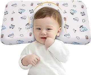 Adokoo ベビーまくら 向き癖防止枕 絶壁頭 斜頭 変形 猫背 寝姿を矯 正 頭の形が良くなる 男女兼用 汗とり 快眠 低反発ピロー 綿100% 無添加 寝ハゲ対策 通気まくら