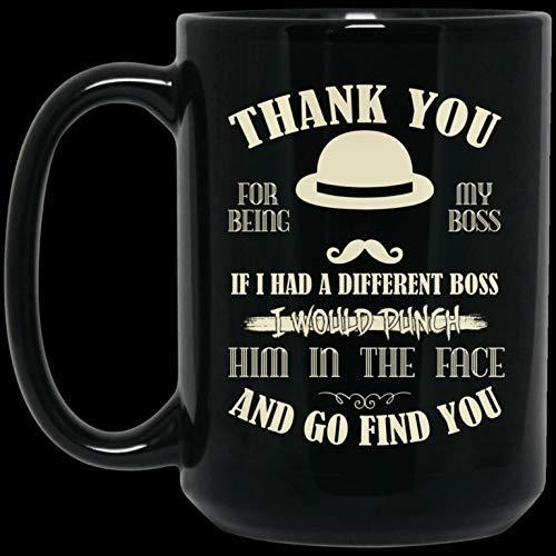 N\A Gracias por ser mi Jefe Taza de café de cerámica Halloween, Taza de café navideña