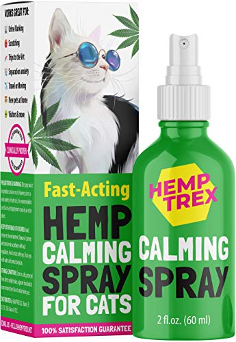 HEMPTREX Calming Spray for Cats and Dogs with Pheromones (60ML) - #1 Natures Miracle - Reduce...