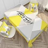 XXDD Mantel Rectangular Anti-Quemaduras a Prueba de Polvo Mantel Fiesta Mesa de Comedor Cubierta Hogar Cocina Cubierta de Mesa A4 140x200cm