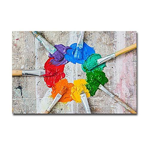 Luyshts Mural Moderno Minimalista Sala De Estar En Casa Colorido Abstracto Creativo Pintura Al Óleo por Ordenador Mural De Pintura Decorativa Núcleo (sin Marco) 40 * 60 Cm
