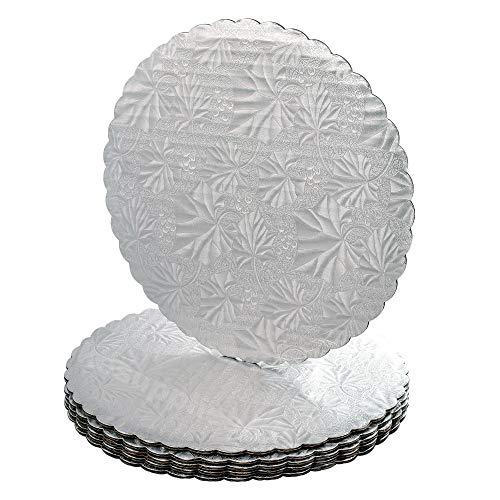 12 Silver Scalloped Edge Cake Boards 12 ct