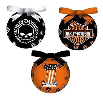 Harley-Davidson 6 Piece H-D Logos Light-Up LED Ball Ornament Box Set 3OT4900LED