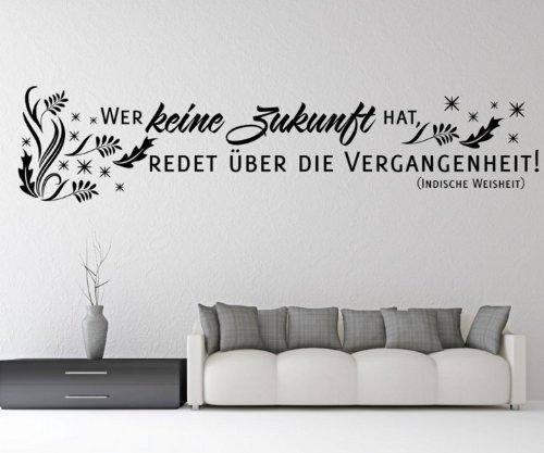 Wandtattoo Spruch | Wer keine Zukunft hat Sprüche Aufkleber Zitate Zitat 5D120, Farbe:Pink glanz;Breite:58 cm