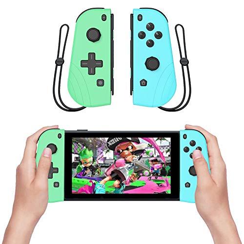 CoURTerzsl Wireless Bluetooth Game Controller Gamepad Joy Con(L/R) mit Gurt für Switch a
