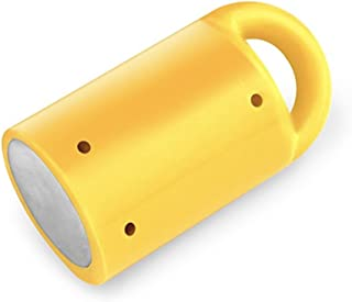 MagnetPal Heavy-Duty Neodymium Anti-Rust Magnet, Magnetic Stud Finder, Hide-A-Key, Tool Holder & Retrieval, Most Powerful Magnet 12lb Pull, Indoor or Outdoor Multi Use Tools, Quick Release Keys Yellow
