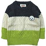 GARACH(ギャラッチ) 横編みセーター胸パンダワッペン《秋冬春対応》 Nv 130cm AH-1831611