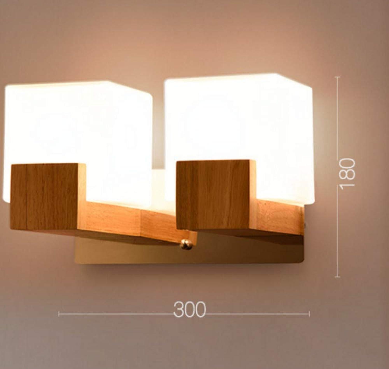 Moderne geführte hlzerne Wandlampen-nordische Mattglas-hlzerne Licht-Wandleuchter-Flur-Aisel-Hotel-Schlafzimmer-unbedeutender fester hlzerner Korridor