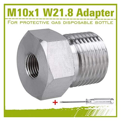 XIAOFANG Fangxia Store Nuevo Adaptador de CO2 con Destornillador para Reductor de presión de Reutilizable a Botella desechable M10x1 Gas inerte