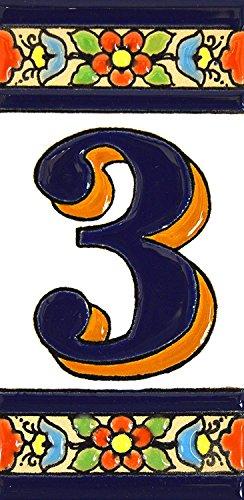 Números casa. Letreros numeros letras azulejo
