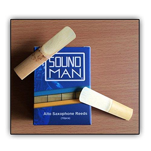 10 Ance per Sassofono Contralto Soundman® Alto Ancia Saxo Sax Saxophone Reeds (3,0)