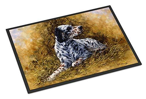 Caroline's Treasures HMHE0007JMAT English Setter by Michael Herring Indoor or Outdoor Mat 24x36, 24H X 36W, Multicolor