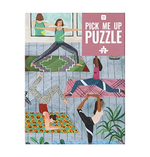 Talking Tables PUZZ-PMU-YOGA 500-teiliges Yoga-Puzzle & Poster | Illustriert | Regentag, Aktivitäten zu Hause, Geburtstagsgeschenk, Weihnachtsgeschenk, Stretching, Bewegung, Wellness, Wandkunst