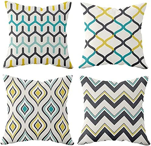 Cheap Throw Pillow Covers 4-Piece Pillowcase Linen Decorative Max 40% OFF Cotton