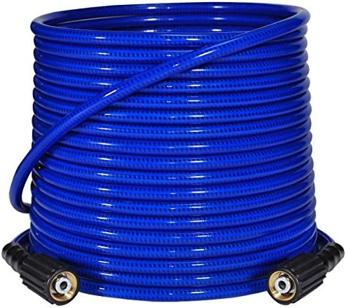 YAMATIC Ultra Flexible Under Zero Pressure Washer Hose 3200 PSI 1 4 x 50 ft Fit M22 14mm Thread product image
