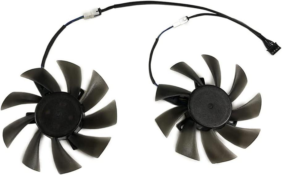 85mm PLD09210S12HH GPU Ventilador de refrigerador Alternativo para Gigabyte GTX1070TI 1060 GTX1050 AORUS RX580 570 480 470 Fragmigos (Blade Color : 1set PLD09210S12HH B)