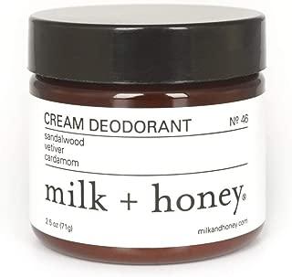 milk + honey Cream Deodorant No. 46 (Sandalwood, Vetiver, Cardamom)