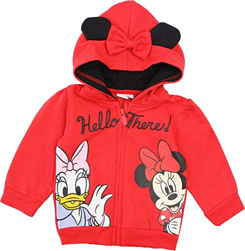 Disney Minnie Mouse Baby Mädchen Hello There Hoodie Pullover Gr. 24 Monate, rot