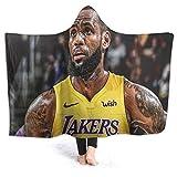 Lebron-James Valentines Day Throw Blankets Hooded Blanket,Fleece Wearable Throw Blanket Microfiber Bedding Hooded Air Conditioning Blanket Advanced 3D Printed Custom Blanket 60'x50'