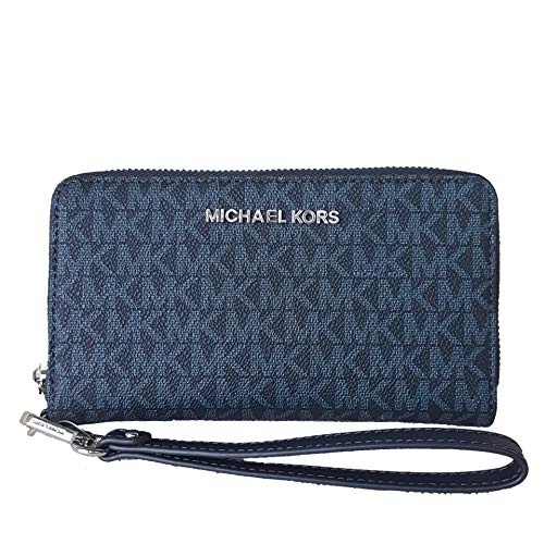 """Michael Kors Womens 7"""" wide 4"""" high 1"""" Width 6 Card Holders Plus 1 ID Window Interior Details: One Zip Coin Pocket, One Cell Phone Pocket, One Open Pocket Compatible with iPhone 4,5,6,7, 7S,8, 8S and Samsung Galaxy"""