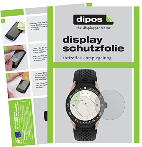 dipos I 6X Schutzfolie matt kompatibel mit Tag Heuer Connected Modular 45 Folie Bildschirmschutzfolie