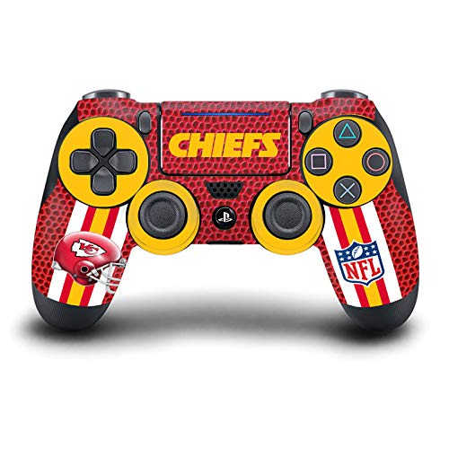 Head Case Designs Offizielle Zugelassen NFL Kansas City Chiefs Team 1 Matte Vinyl Haut Gaming Aufkleber Abziehbild Abdeckung kompatibel mit Sony Playstation 4 PS4 DualShock 4 Controller