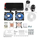 PC Wasserkühlung Satz 240mm Kühler Pumpe Reservoir CPU Block Starre Rohre DIY