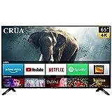 CRUA 164 cm (65 Inches) 4K Ultra HD Smart LED TV CJDS65L12 (Black) (2019 Model)