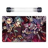 Yu-Gi-Oh! ARC-V Shay Obsidian & Raidraptor Deck Playmat Trading Card Game Mat Free Tube