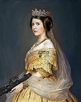 Princess Leia Oil Portrait Replica Canvas Poster Unframed  20 x24