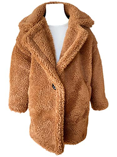 JSKY Toddler Unisex Warm Cozy Winter Brown Teddy Bear Faux Shearling Coat Size 6 Years Old