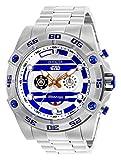 Invicta Men's Star Wars Quartz Watch with Stainless-Steel Strap, Silver, 26 (Model: 26518)