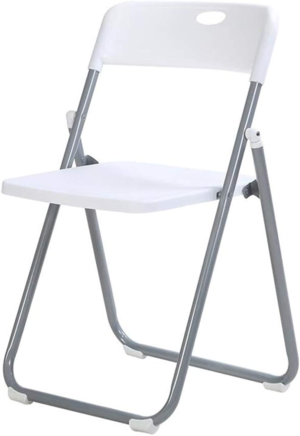 LBYMYB Folding Chair Visitor Meeting Advanced Plastic Comfortable Chair Chair (color   White)