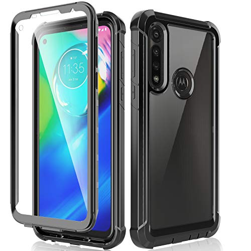 HATOSHI Motorola Moto G Power Case with Built in Screen Protector - NOT for Moto G8 Power, Military Grade Heavy Duty Protection, Crystal Clear Back, Full-Body Rugged Shockproof Phone Case 2020