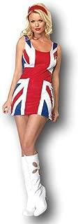 Rubber Johnnies British Flag Dress Costume, US Dress 4-8, Union Jack, London Girl